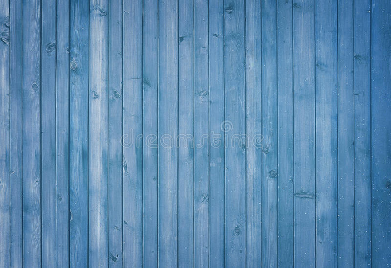 Błękitny drewniany tło sztandar malujący fotografia stock