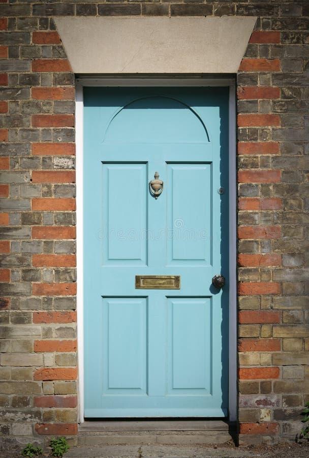 błękitny drzwiowy wiktoriański obraz stock