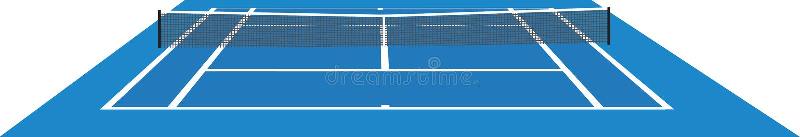 błękitny dworski tenis royalty ilustracja