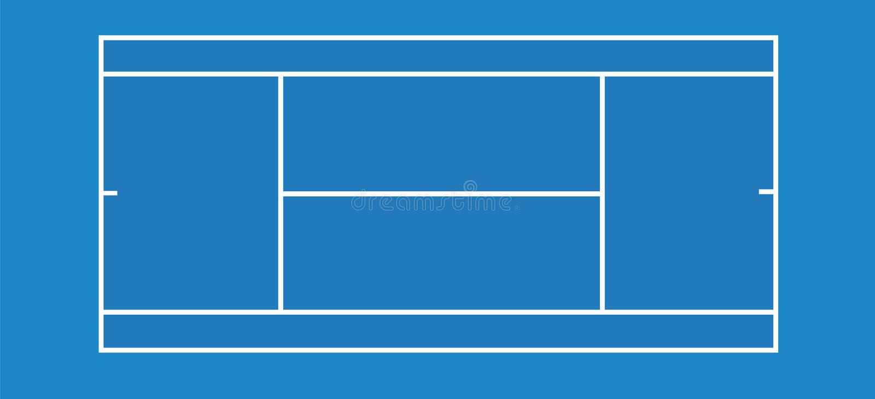 błękitny dworski tenis ilustracji