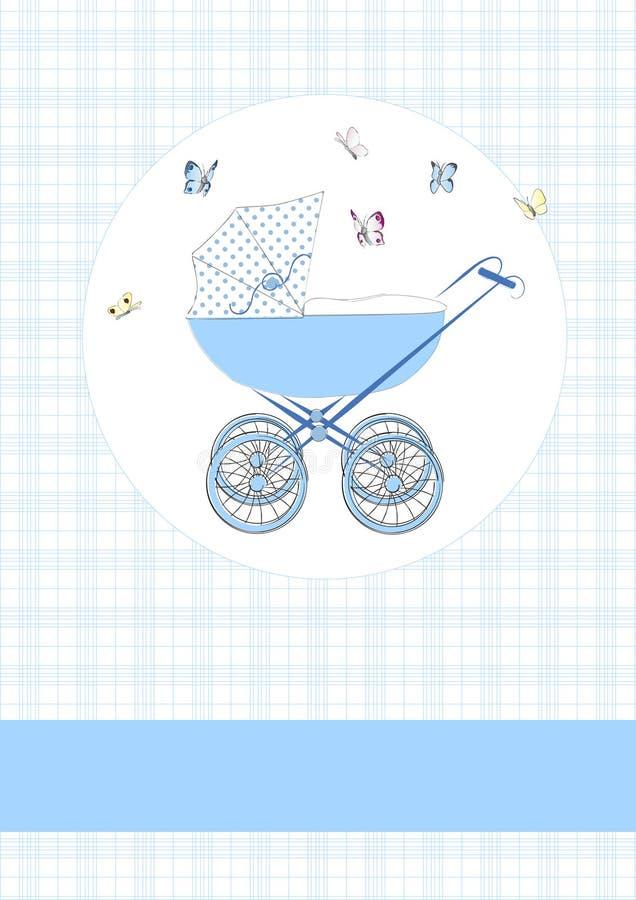 Błękitny dziecka powozik ilustracja wektor