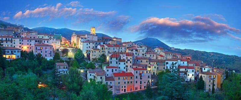 błękitny Elba godzina wyspy panorama Tuscany obrazy stock