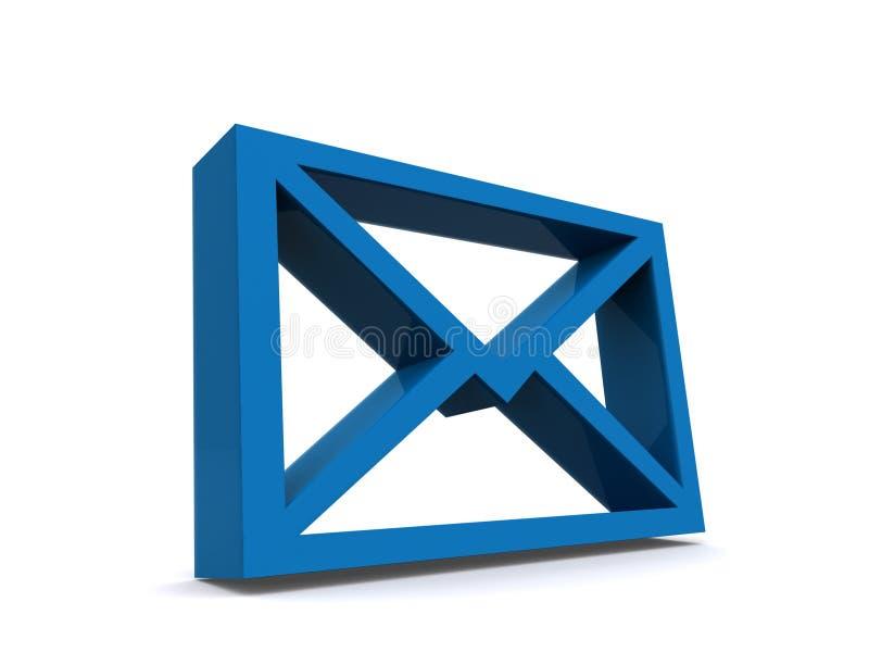 błękitny emaila ikony list ilustracja wektor