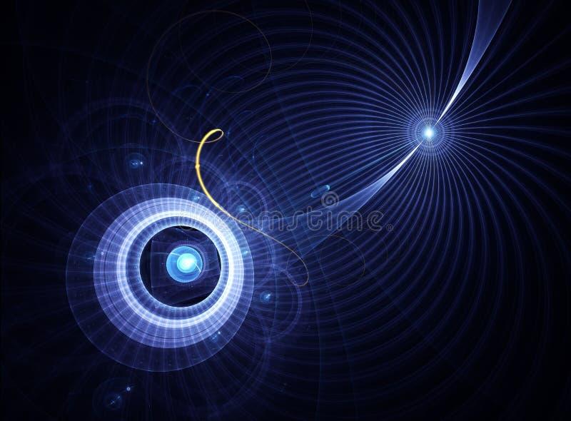 błękitny energetyczne linie planeta royalty ilustracja
