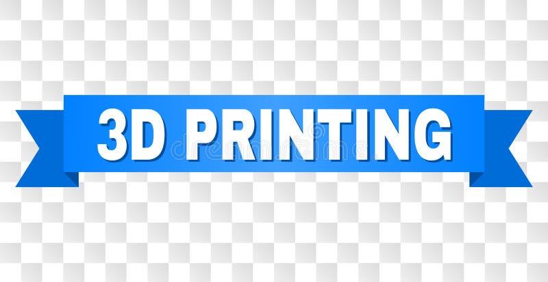 Błękitny faborek z 3D druku tytułem ilustracja wektor