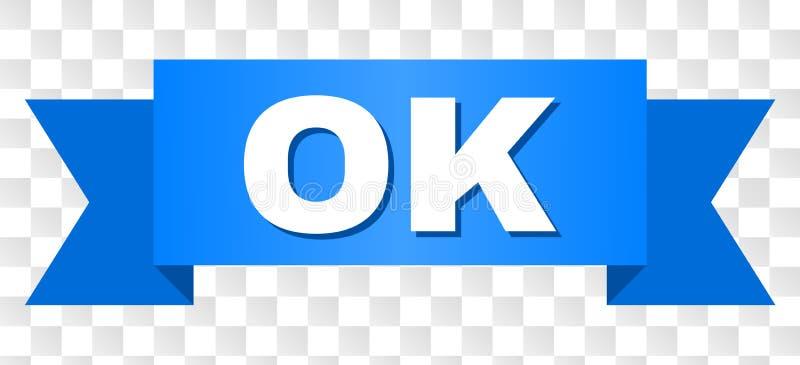 Błękitny faborek z OK tytułem ilustracja wektor