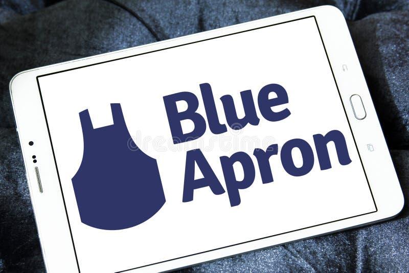 Błękitny fartucha posiłku zestawu usługa logo obrazy stock