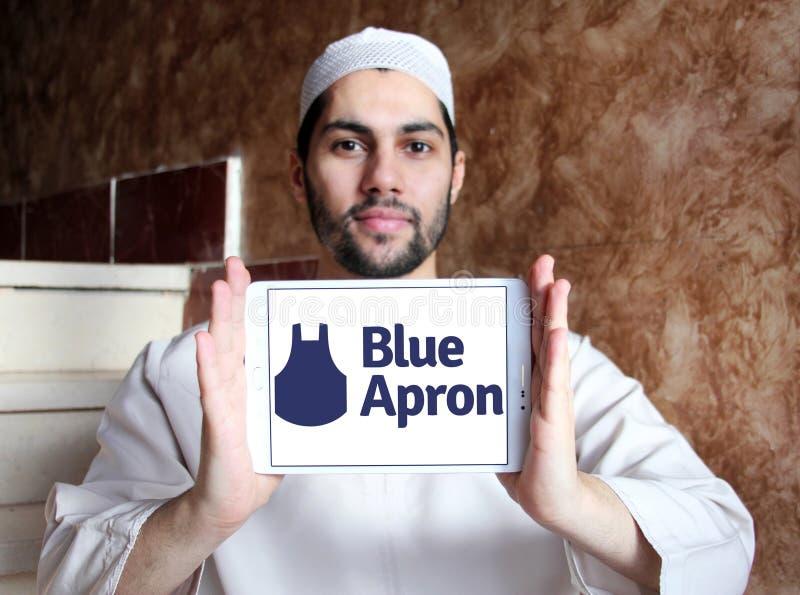 Błękitny fartucha posiłku zestawu usługa logo zdjęcie stock
