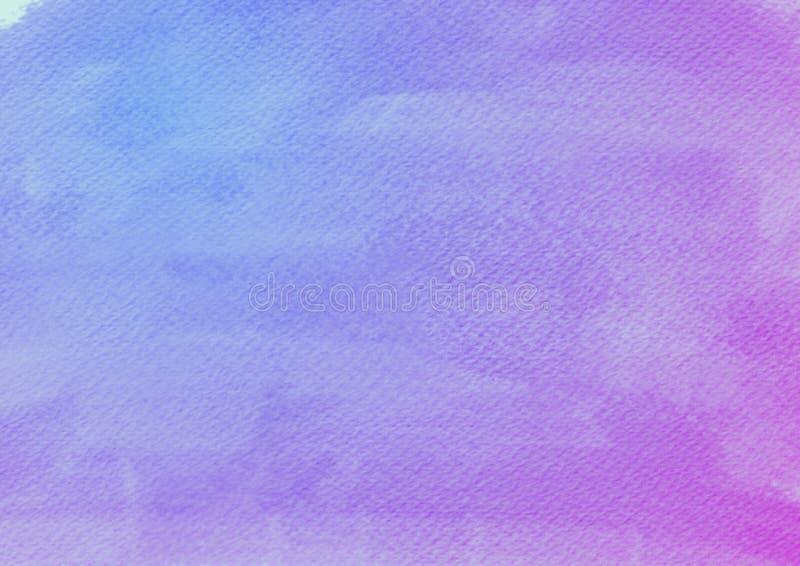 Błękitny Fiołkowy akwareli tło