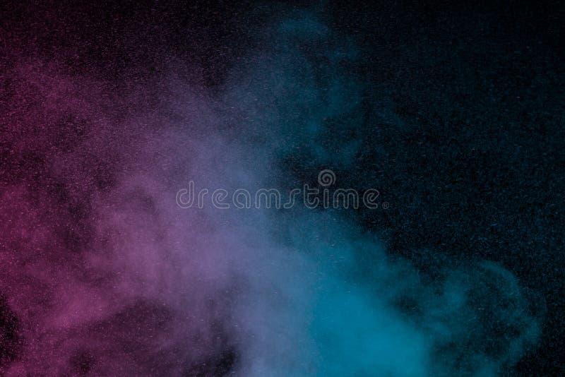Błękitny fiołkowy wodny opary fotografia stock