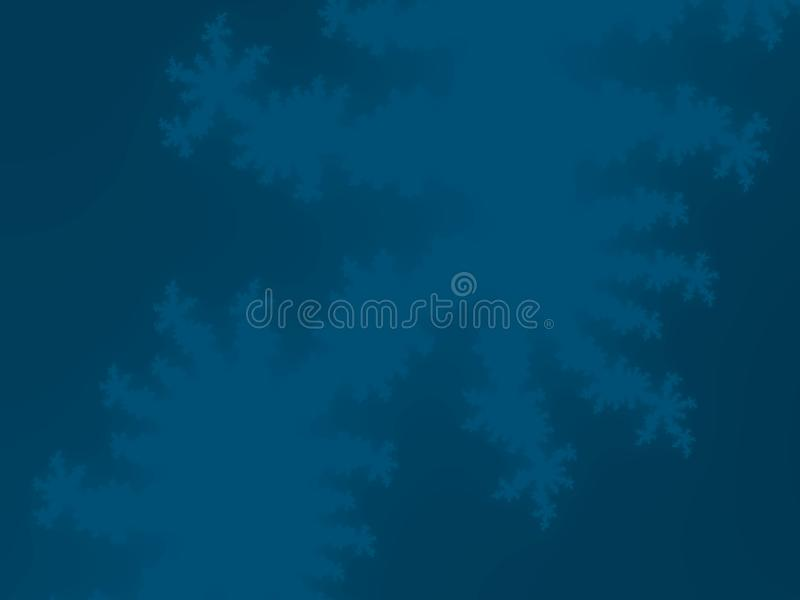 Błękitny Fractal tło ilustracji