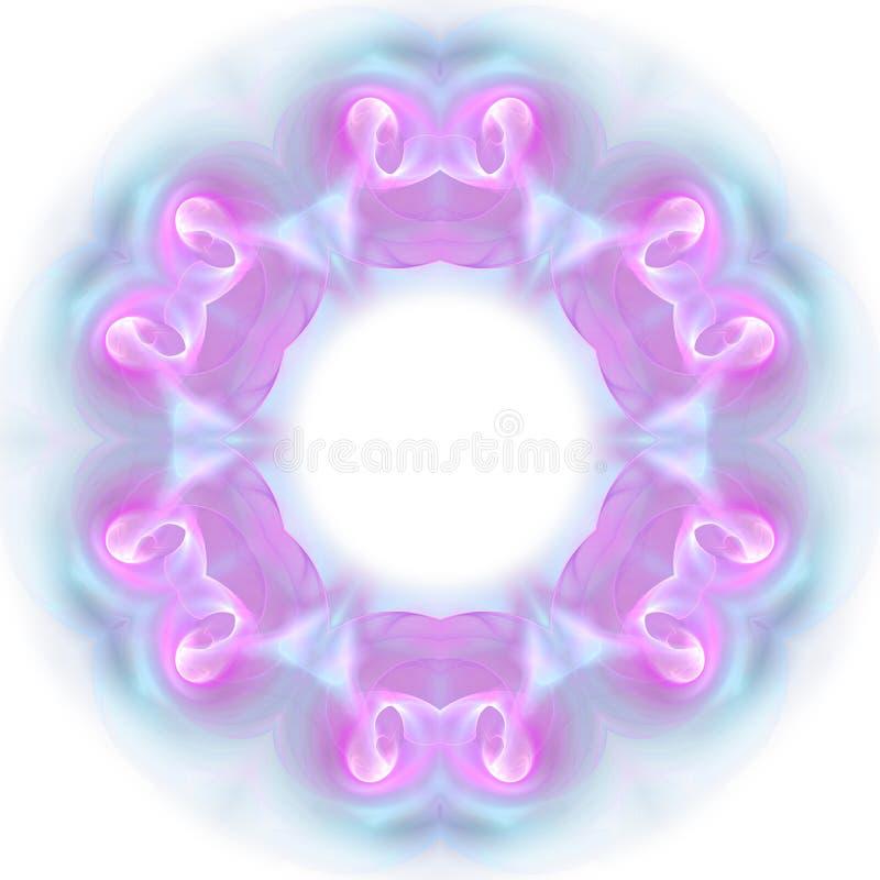 Błękitny fractal wzór mandala kalejdoskop obrazy stock