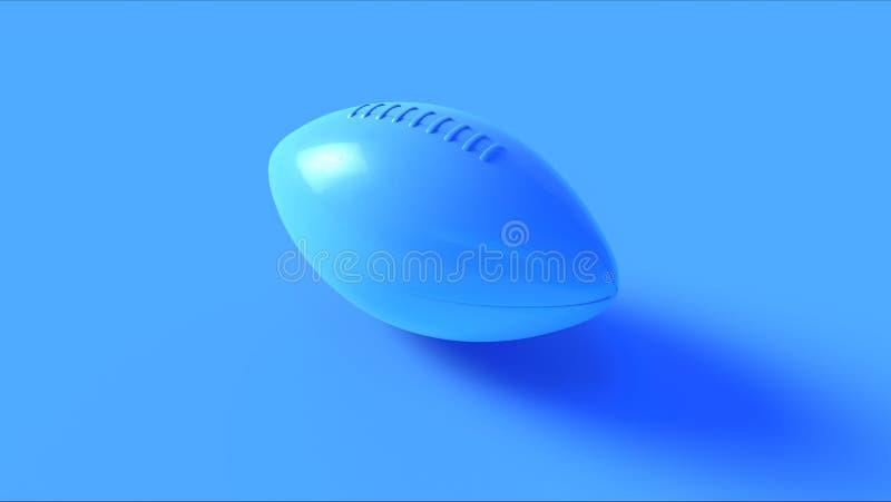 Błękitny futbol amerykański zdjęcia stock