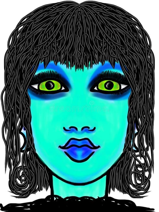 Błękitny Gal ilustracji