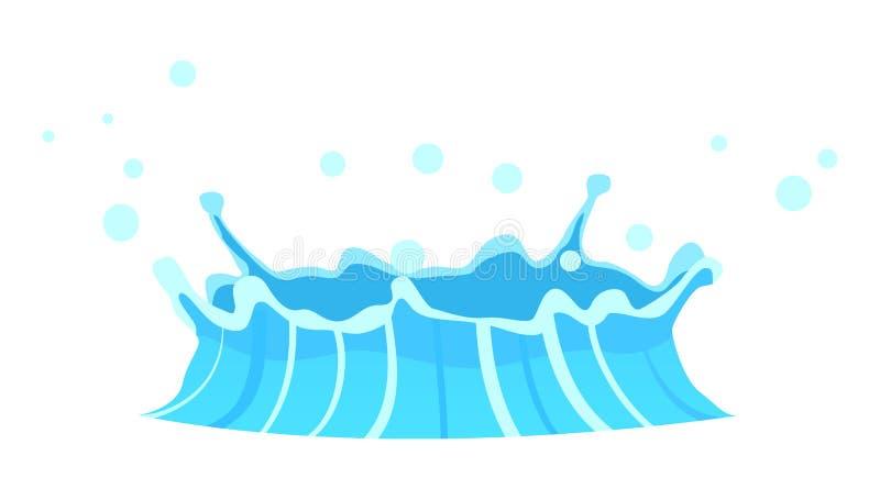 Błękitny gejzeru przepływ woda spod Ziemskiego rysunku ilustracji