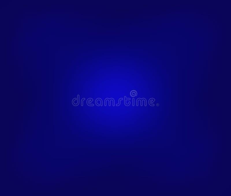 Błękitny gradientowy abstrakcjonistyczny tło błękitny abstrakcjonistyczny szablonu tło niebieska tapeta Abstrakcjonistyczny zmrok royalty ilustracja