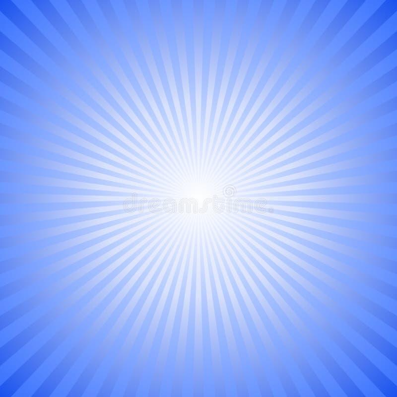 Błękitny gradientowy abstrakt gwiazdy wybuchu tło - hipnotyczna wektorowa grafika ilustracja wektor