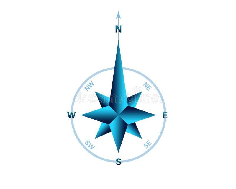 błękitny gradientu róży wiatr ilustracji
