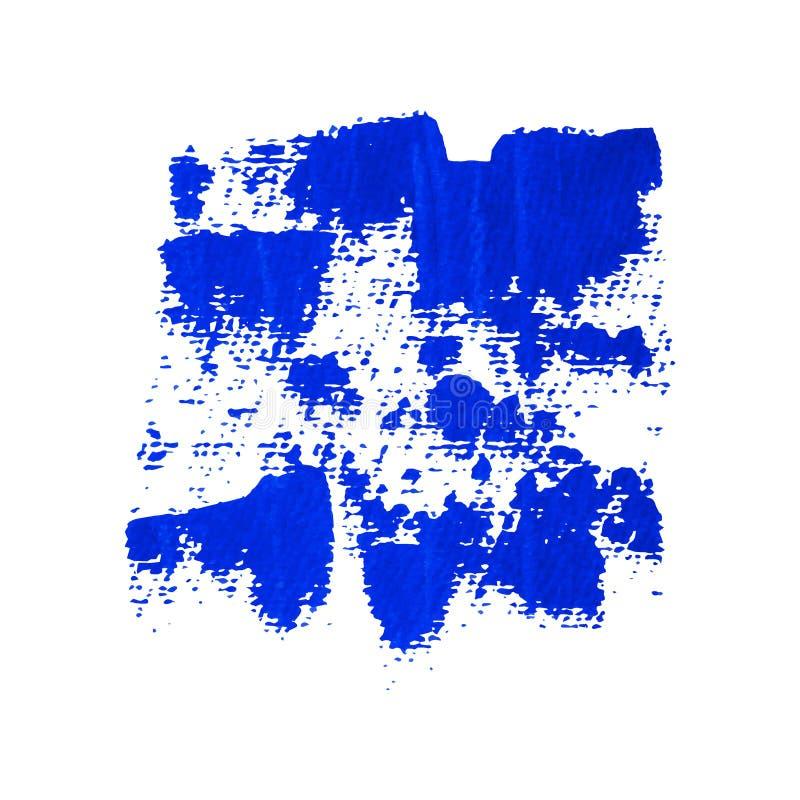Błękitny grunge malujący wektorowy sztandar ilustracja wektor