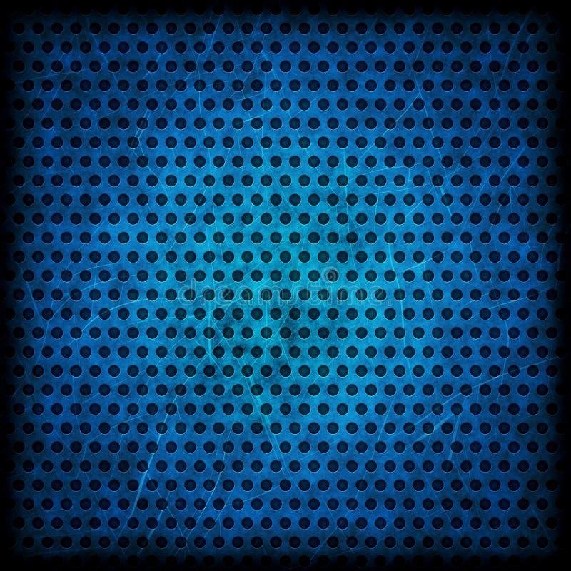 Błękitny grunge tło okręgu wzór fotografia stock