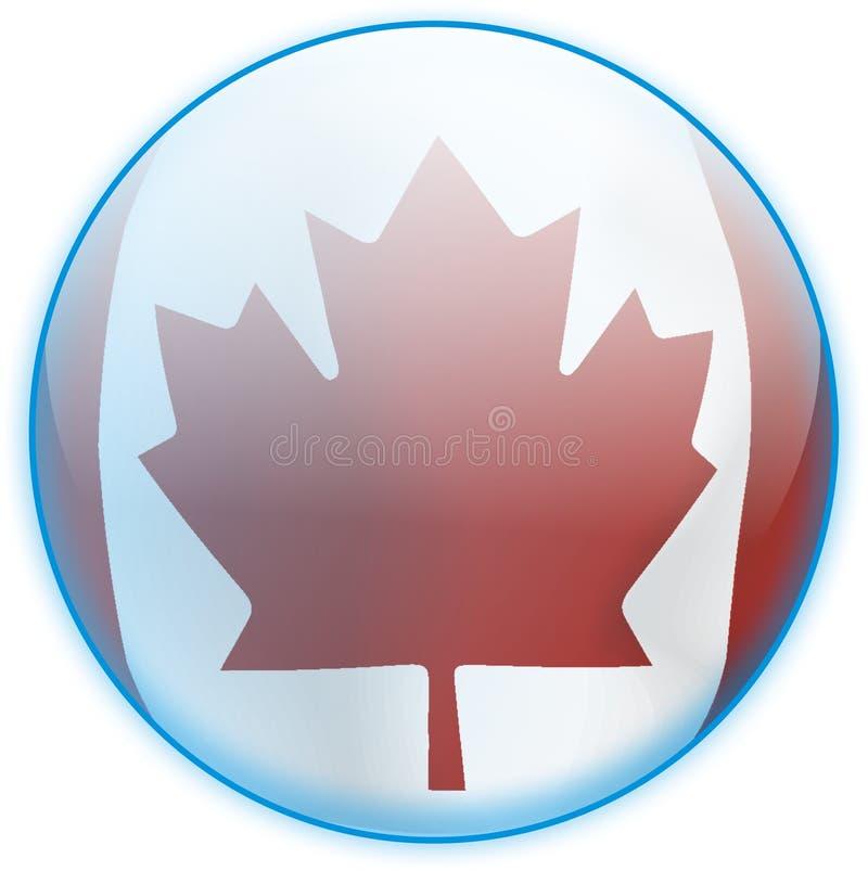 błękitny guzika Canada flaga fotografia stock