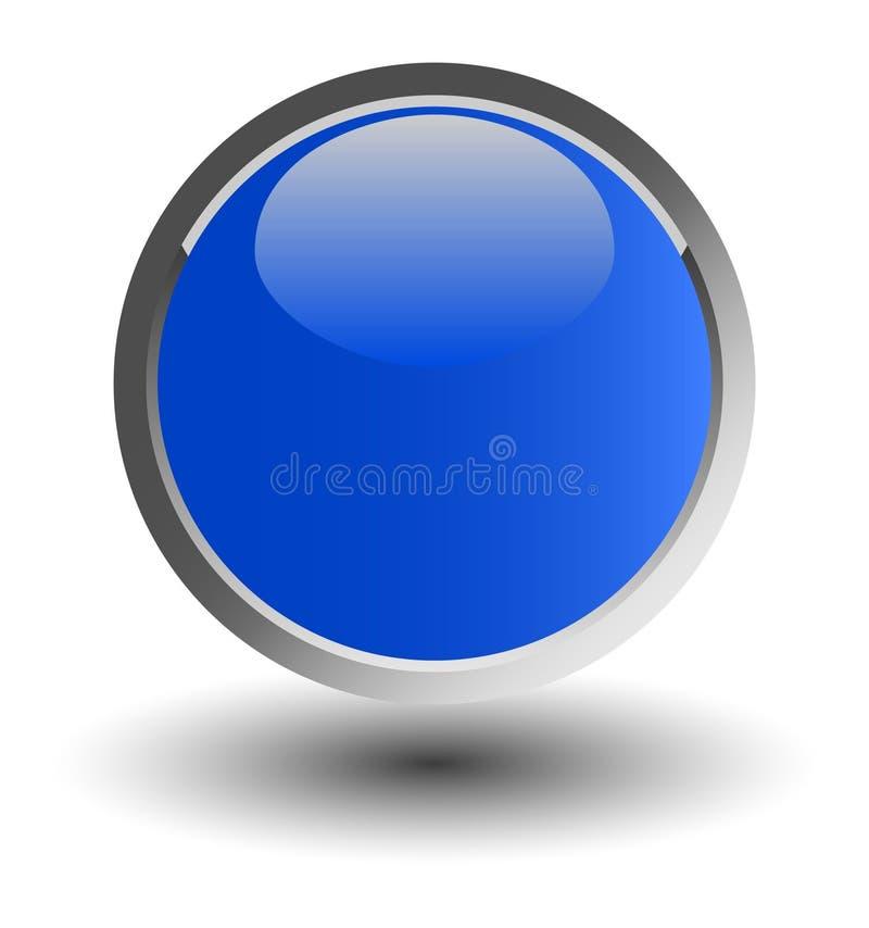 błękitny guzika glansowana sieć ilustracja wektor