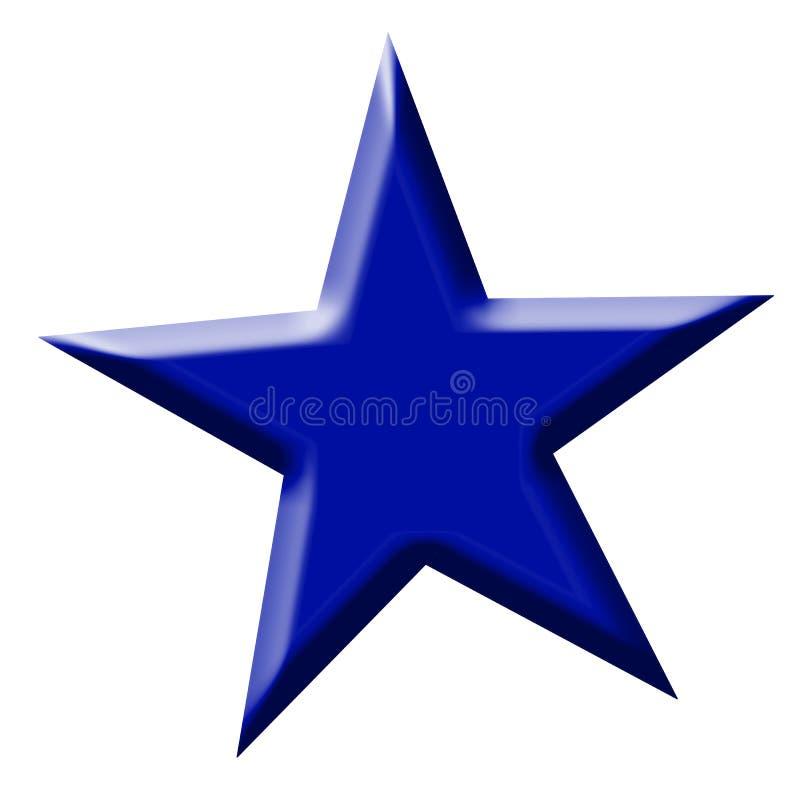 błękitny gwiazda ilustracja wektor