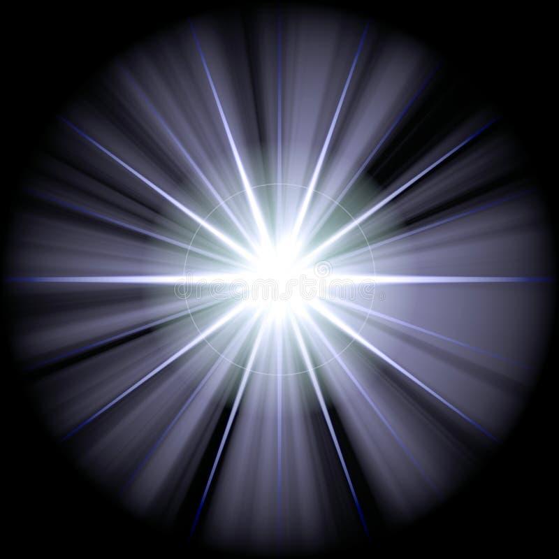błękitny gwiazdy biel ilustracji