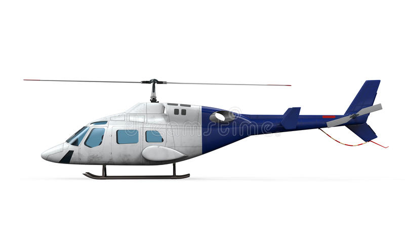 Błękitny helikopter  ilustracji