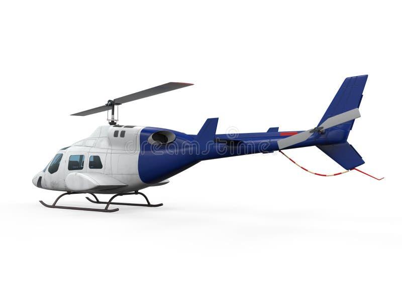 Błękitny helikopter  royalty ilustracja
