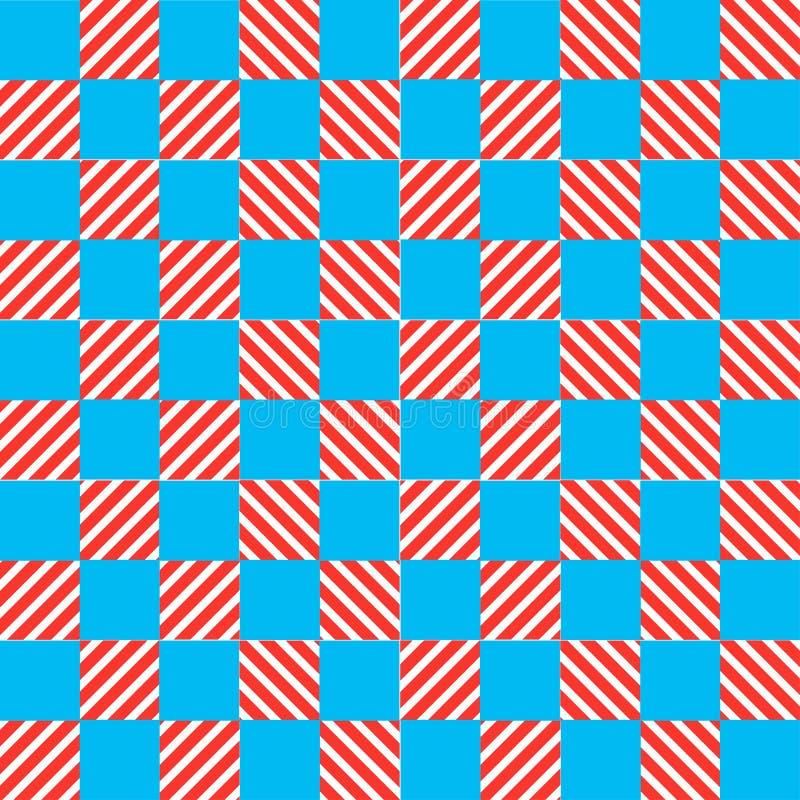 Błękitny i żółty tekstura szachy wzór ilustracja wektor