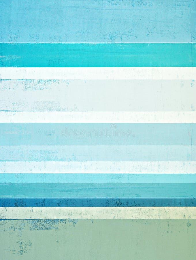 Błękitny i Beżowy Abstrakcjonistycznej sztuki obraz zdjęcia stock