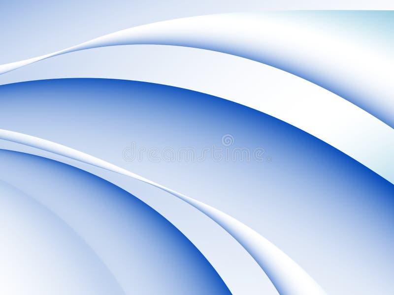 Błękitny i biały abstrakcjonistyczny fractal tło z ilustracja wektor