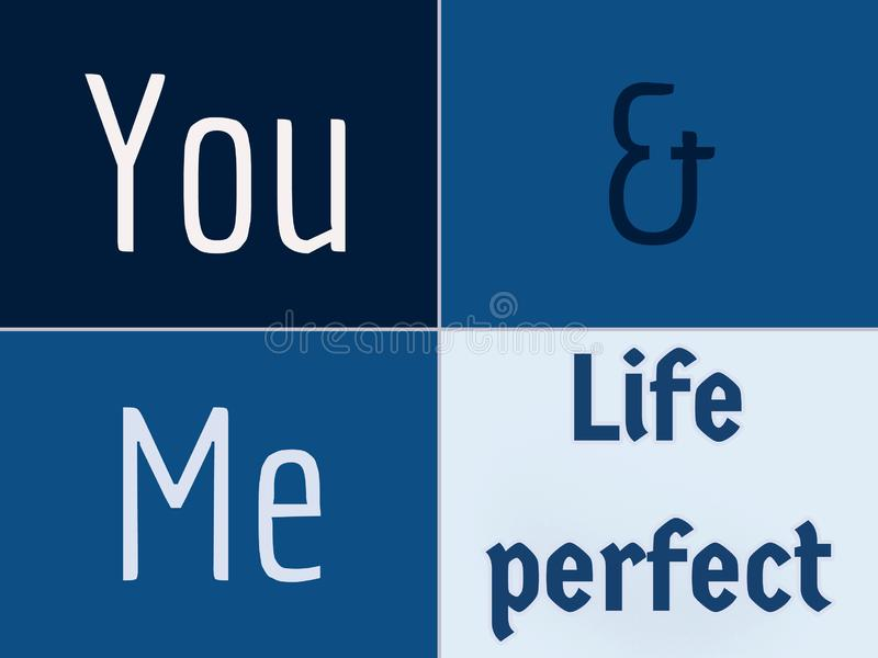 Błękitny i ciemny - błękitny i biały tło ty i ja życie doskonalić tło obraz stock