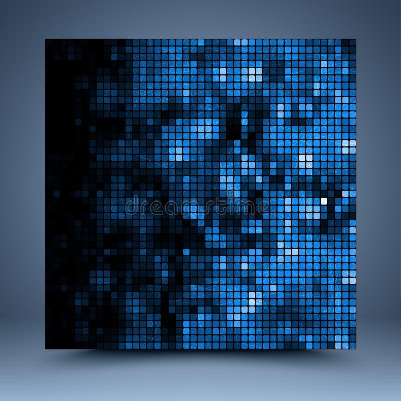 Błękitny i czarny abstrakcjonistyczny szablon royalty ilustracja