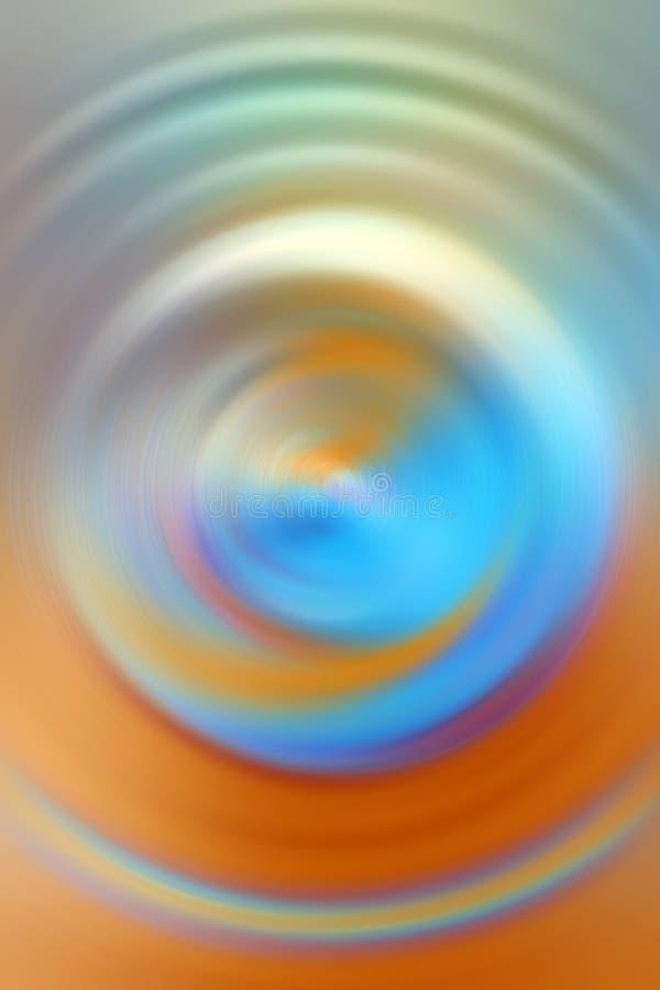 Błękitny i pomarańczowy przędzalnictwo okręgu tło ilustracja wektor