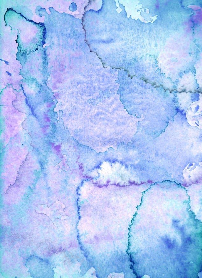 Błękitny i Purpurowy Abstrakcjonistycznej sztuki obraz fotografia royalty free