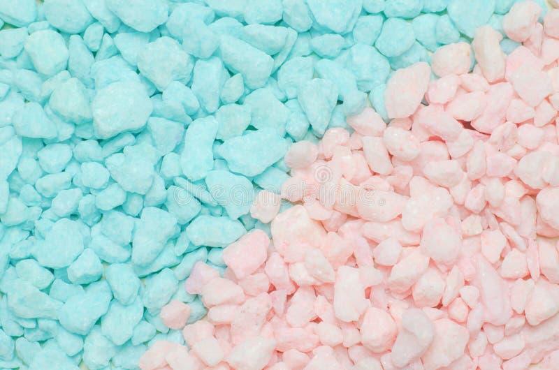 Błękitny i różowy pastelu kamienia żwiru tekstury tło obraz stock