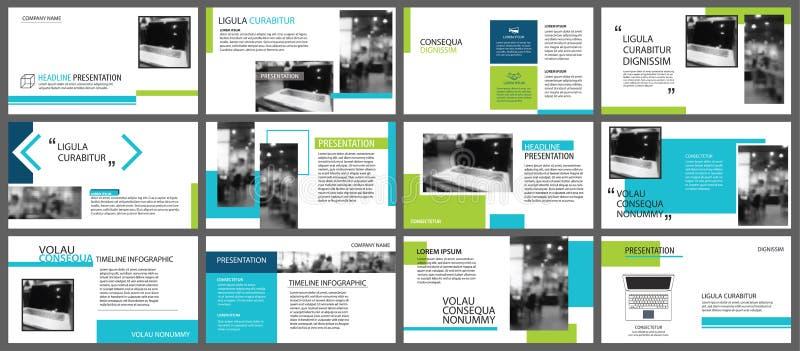 Błękitny i zielony element dla obruszenia infographic na tle pres ilustracji