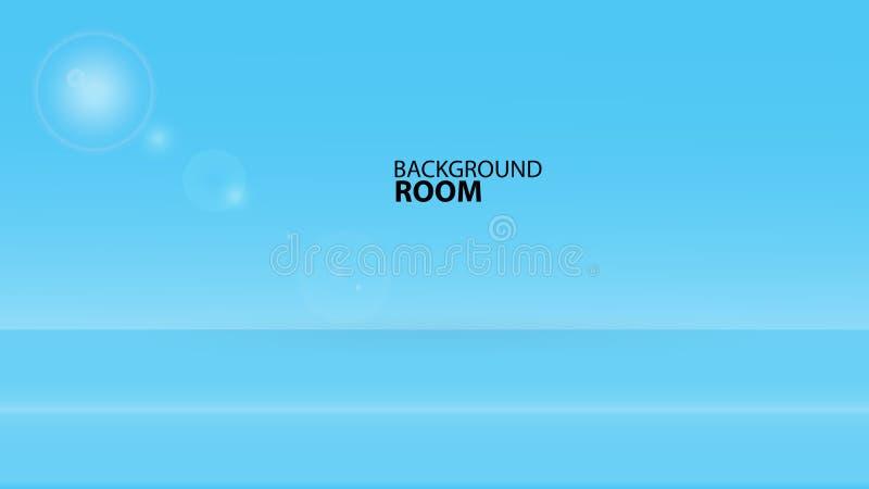 Błękitny izbowy tło, wektoru Pusty szablon, sztandaru projekt, pokrywa, strona internetowa, reklama, tekstura, avertisement ilustracja wektor