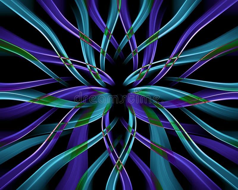 błękitny jak marzenie kwiat royalty ilustracja