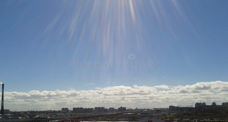 błękitny jasnego dzień niebo pogodny zdjęcie royalty free