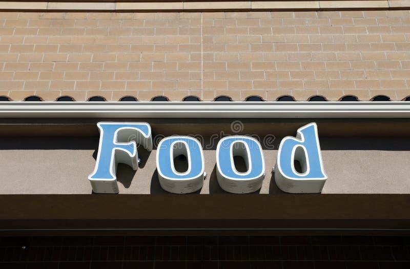 Błękitny jedzenie znak fotografia stock
