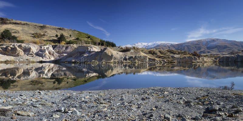 Błękitny jezioro obrazy stock