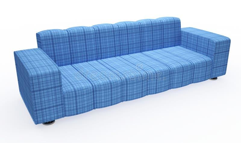 błękitny kanapa ilustracja wektor