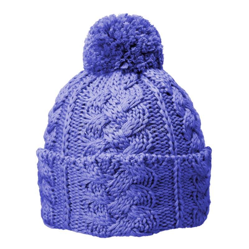 błękitny kapeluszowy woolen obrazy stock