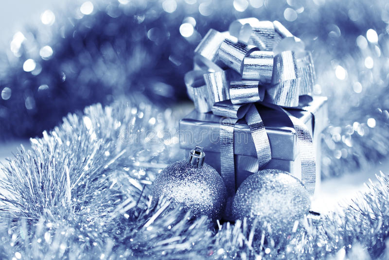 Błękitny kartka bożonarodzeniowa zdjęcie royalty free