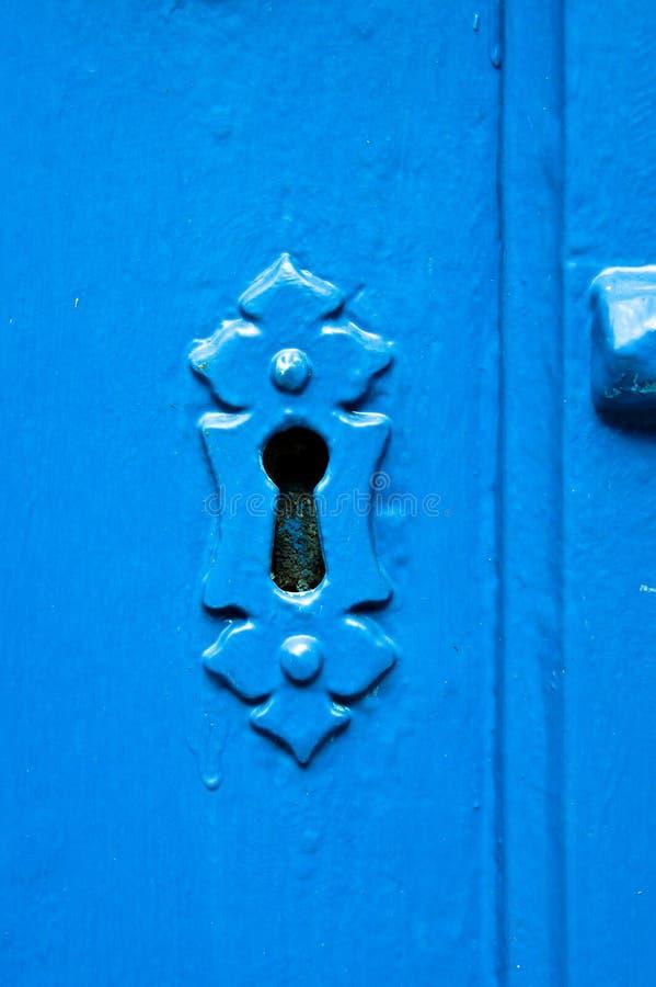 Błękitny keyhole zdjęcie stock