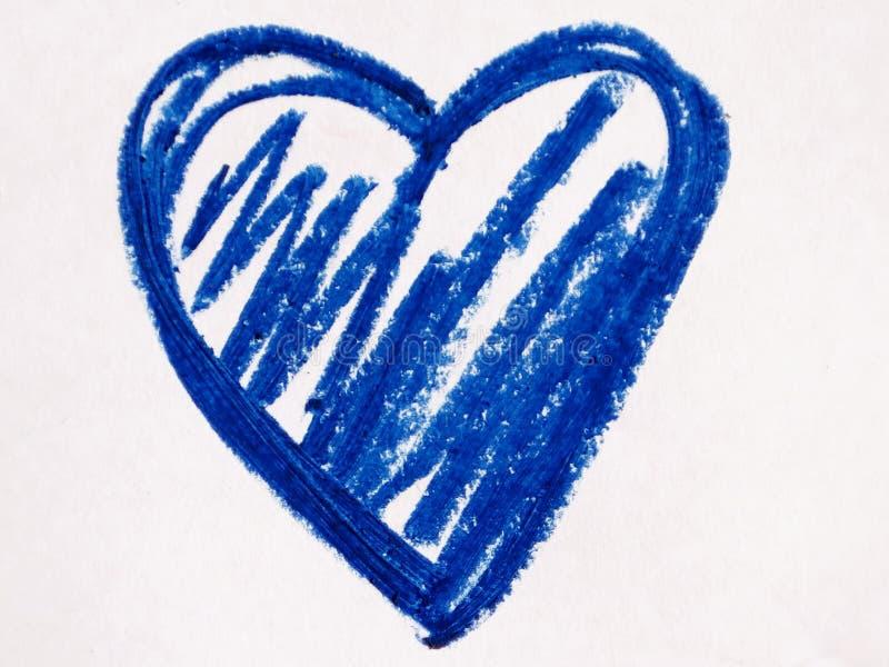 Błękitny kierowy kształt obraz stock
