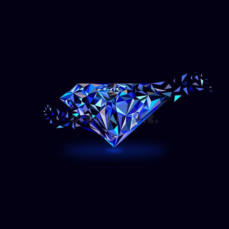 Błękitny klejnotu logo zdjęcie stock